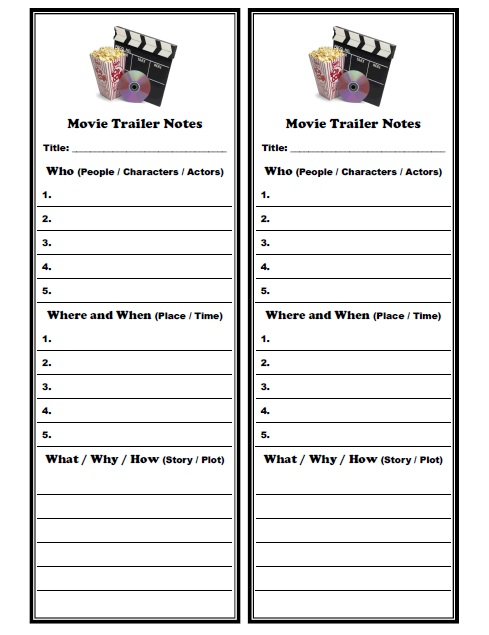 Movie Worksheets For Students : Films movies cartoons activities games and