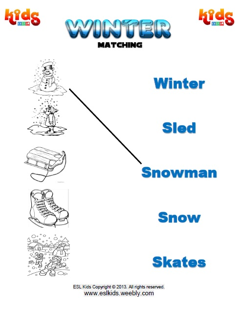 Winter - Activities, Games, And Worksheets For Kids