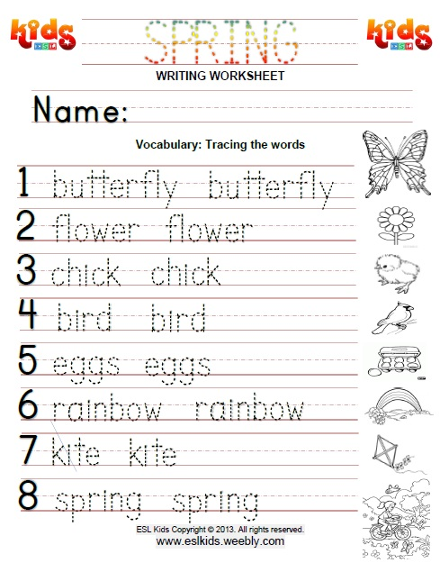 math worksheet : spring  free worksheets for kids : Spring Worksheets For Kindergarten