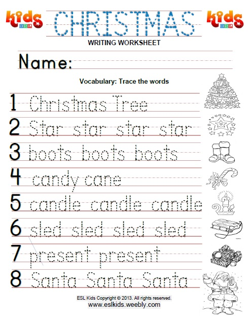 christmas activities games and worksheets for kids. Black Bedroom Furniture Sets. Home Design Ideas