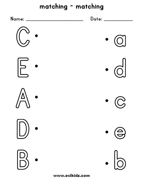 Click on the letters below for lots of letter worksheets