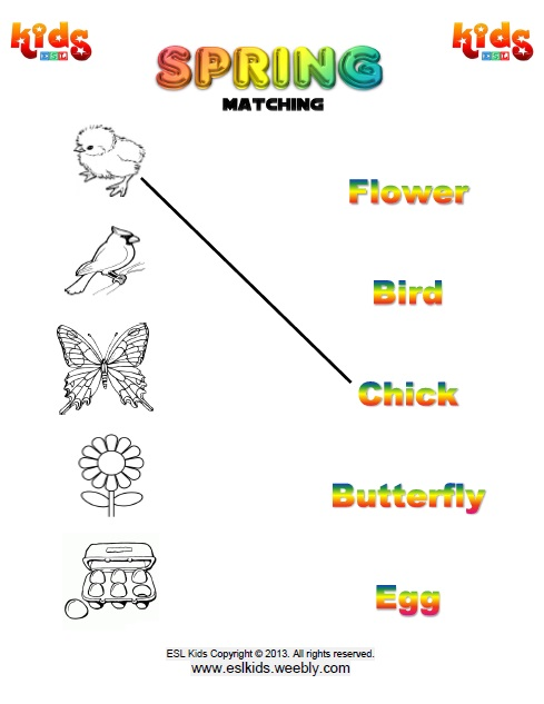 Spring - Activities, Games, and Worksheets for kids