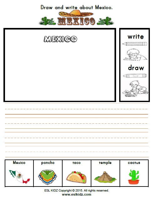 Mexico Worksheets - Activities, Games, and Worksheets for kids