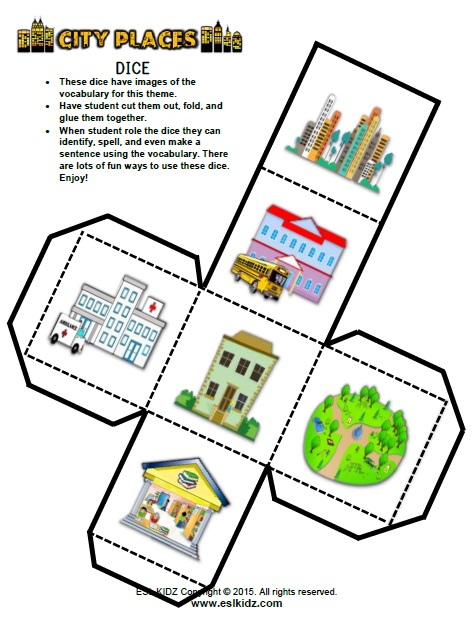 city places activities games and worksheets for kids. Black Bedroom Furniture Sets. Home Design Ideas