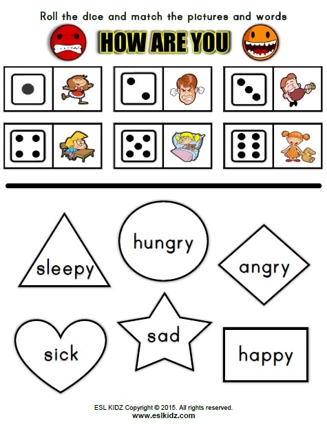 Feelings - Activities, Games, and Worksheets for kids