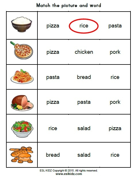 Food activities games and worksheets for kids picture forumfinder Choice Image