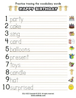 Birthday worksheets activities games and worksheets for kids picture freerunsca Image collections