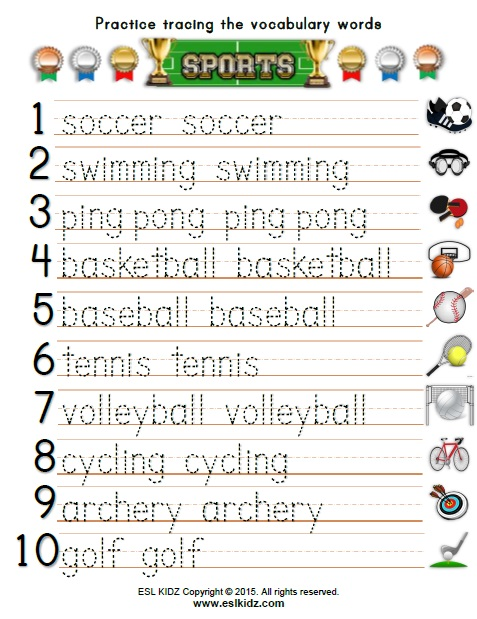 all worksheets sports worksheets pdf printable worksheets guide for children and parents. Black Bedroom Furniture Sets. Home Design Ideas